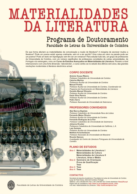 Materialidades da Literatura_Cartaz 2013-2014
