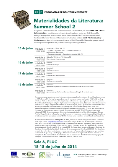 MatLit_Cartaz_SummerSchool2_15-18Jul2014