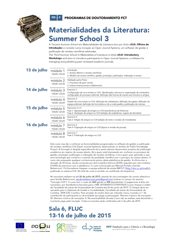 50_MatLit_Cartaz_SummerSchool3_13-16Jul2015