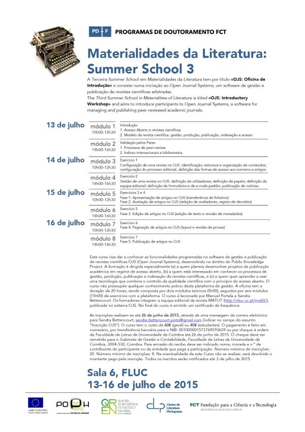 50_MatLit_Cartaz_SummerSchool3_13-16Jul2015