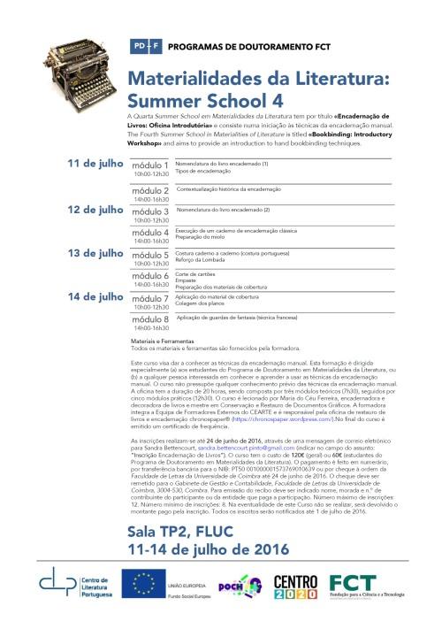 62_MatLit_Cartaz_SummerSchool4_11-14Jul2016